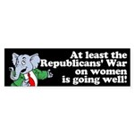 Republicans' War on Women Bumper Sticker