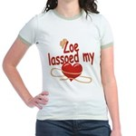 Zoe Lassoed My Heart Jr. Ringer T-Shirt