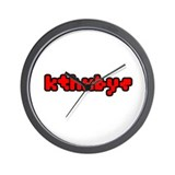 kthxbye Wall Clock