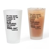 Paralegal In Charge [Text Bla Drinking Glass
