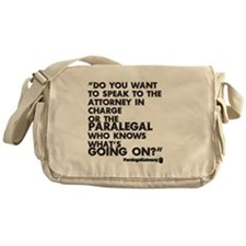 Paralegal In Charge [Text Bla Messenger Bag