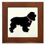 Cocker Spaniel Breast Cancer Support Framed Tile