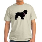 Cocker Spaniel Breast Cancer Support Light T-Shirt