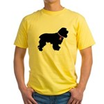 Cocker Spaniel Breast Cancer Support Yellow T-Shir