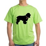 Cocker Spaniel Breast Cancer Support Green T-Shirt