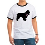 Christmas or Holiday Cocker Spaniel Silhouette Rin