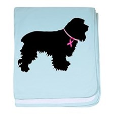 Cocker Spaniel Breast Cancer Support baby blanket