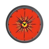 ClockWordArt Sundisk design Wall Clock