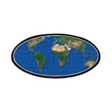 World Map Oval: Patches