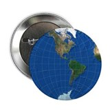 "World Map Sphere 2: 2.25"" Button"