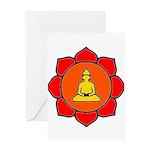 Sitting Lotus Greeting Card