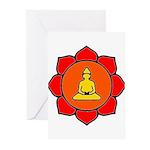 Sitting Lotus Greeting Cards (Pk of 10)