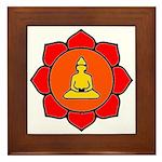 Sitting Lotus Framed Tile