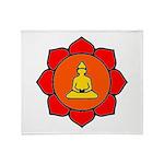 Sitting Lotus Throw Blanket