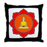 Sitting Lotus Throw Pillow