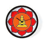 Sitting Lotus Wall Clock