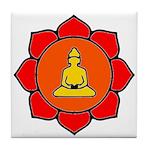 Sitting Lotus Tile Coaster