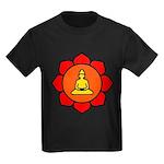 Sitting Lotus Kids Dark T-Shirt