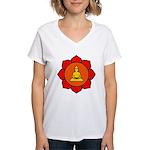 Sitting Lotus Women's V-Neck T-Shirt