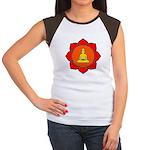 Sitting Lotus Women's Cap Sleeve T-Shirt