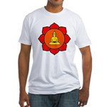 Sitting Lotus Fitted T-Shirt