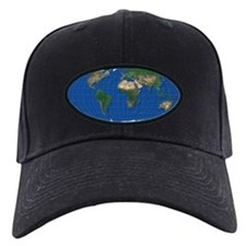 World Map Oval: Baseball Hat mollweide