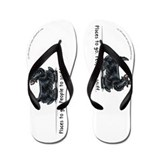 Funny Black Scottie Flip Flops