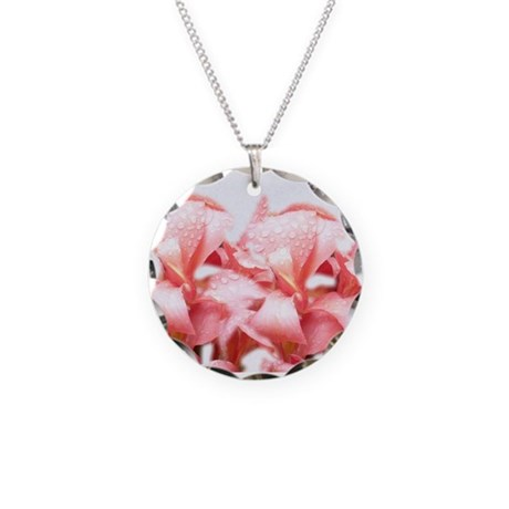 Stunning Lilly Necklace Circle Charm