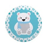 Polar Bear Christmas Snowflake Ornament