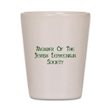 Jewish Leprechaun Society Shot Glass