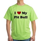 Cute I heart my bull terrier T-Shirt