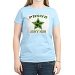 Proud Army Mom Women's Pink T-Shirt