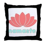 Namaste Lotus Throw Pillow
