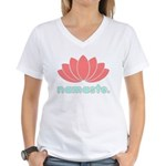 Namaste Lotus Women's V-Neck T-Shirt