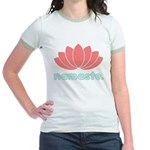 Namaste Lotus Jr. Ringer T-Shirt