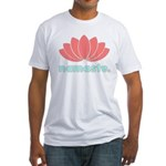 Namaste Lotus Fitted T-Shirt