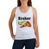 Broker Funny Pizza Women's Tank Top