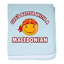 Cute Macedonian design baby blanket
