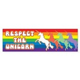 Respect the Unicorn - Bumper Car Sticker