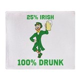 25 percent Irish 100 percent Throw Blanket
