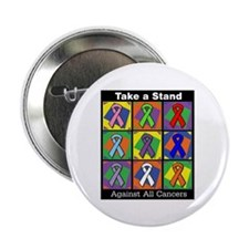 "Take a Stand Cancer Ribbons 2.25"" Button (100 pack"