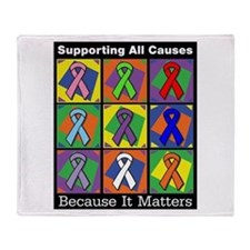 Supporting All Causes Throw Blanket