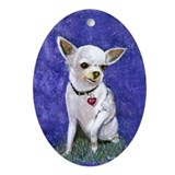 Chihuahua Si Ornament (Oval)