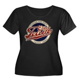 The Other Team Women's Plus Size Scoop Neck Dark T