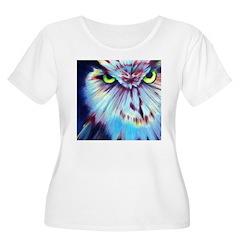 Night Owl Women's Plus Size Scoop Neck T-Shi