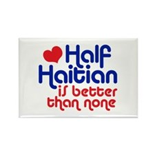 Half Haitian Rectangle Magnet