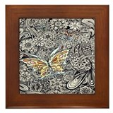 Butterfly Ink Framed Tile