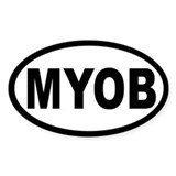 MYOB OVAL STICKERS Oval Decal