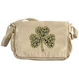 Irish Shamrock Made Of Skulls Messenger Bag