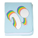 Rainbow Cochlear Implants baby blanket